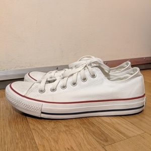 Lightly Used White Converse All Stars Classic